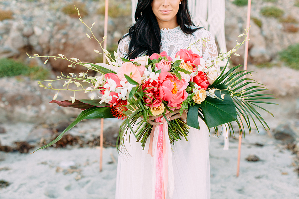 Orange-county-beach-wedding-in-dana-point-bride-holding-bouquet-close-up