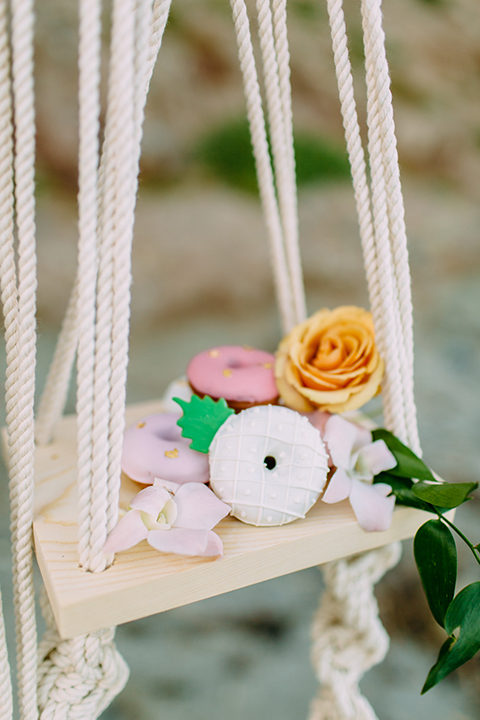 Orange-county-beach-wedding-in-dana-point-reception-dessert- wall-donuts