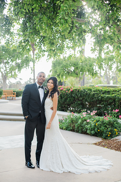Park-hyatt-aviara-wedding-shoot-bride-and-groom-standing