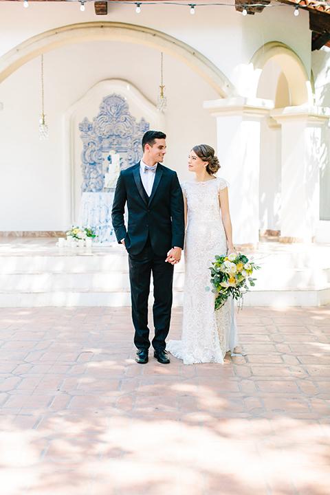 Rancho-las-lomas-outdoor-wedding-bride-and-groom-standing-walking