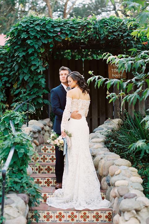 Rancho-las-lomas-outdoor-wedding-shoot-bride-and-groom-hugging