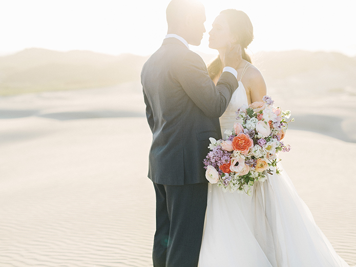 sand-dunes-wedding-shoot-bride-and-groom-at-sunset