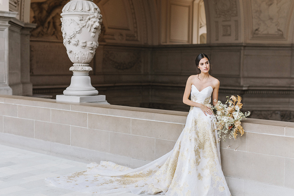 San-francisco-glamorous-wedding-at-city-hall-bride-ball-gown
