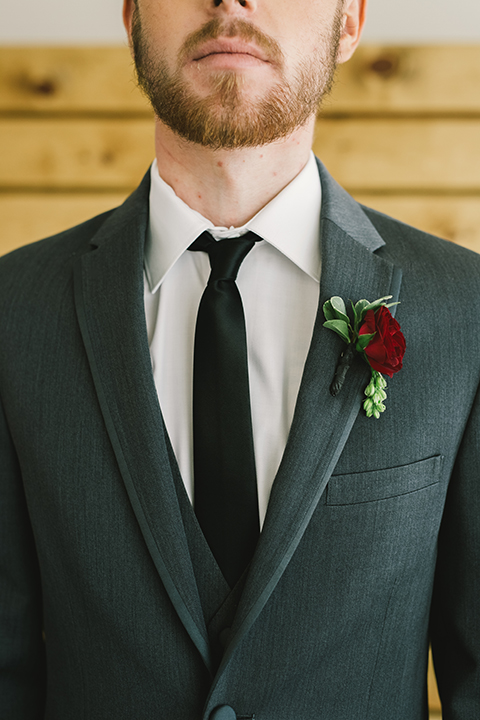 Orange-county-wedding-at-the-colony-house-groom-grey-tuxedo-close-up