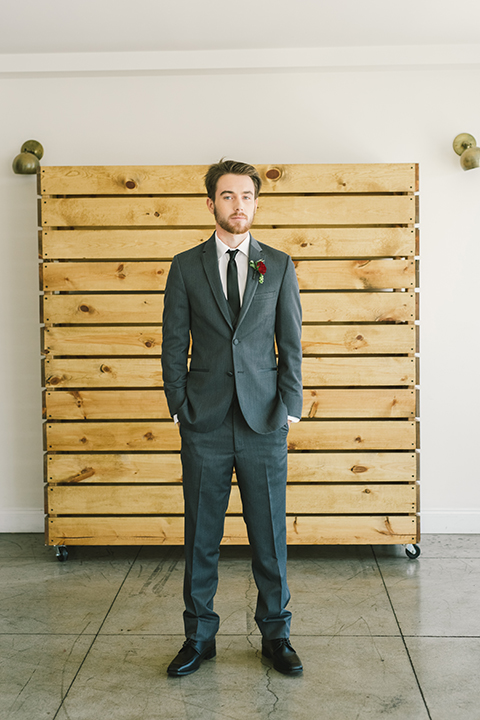 Orange-county-wedding-at-the-colony-house-groom-grey-tuxedo