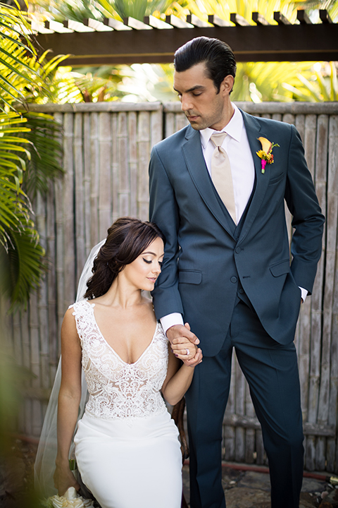 Glamorous-backyard-wedding-shoot-at-a-private-estate-bride-and-groom-holding-hands