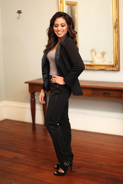 Womens-tuxedo-styled-shoot-at-franciscan-gardens-bride-black-tuxedo-standing