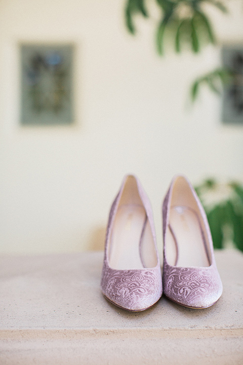 Huntington-bay-club-wedding-bridal-shoes-in-a-rose-color