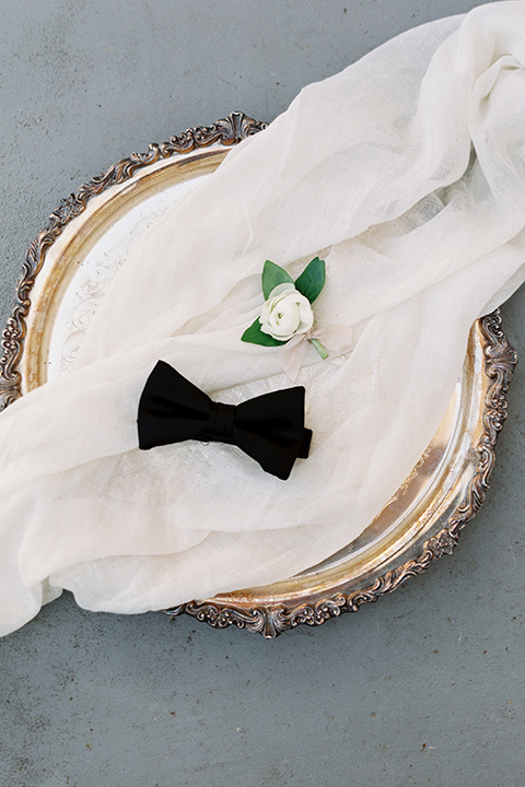 Taylor-Grady-House-shoot-mens-accessories-black-bow-tie-with-white-boutonniere
