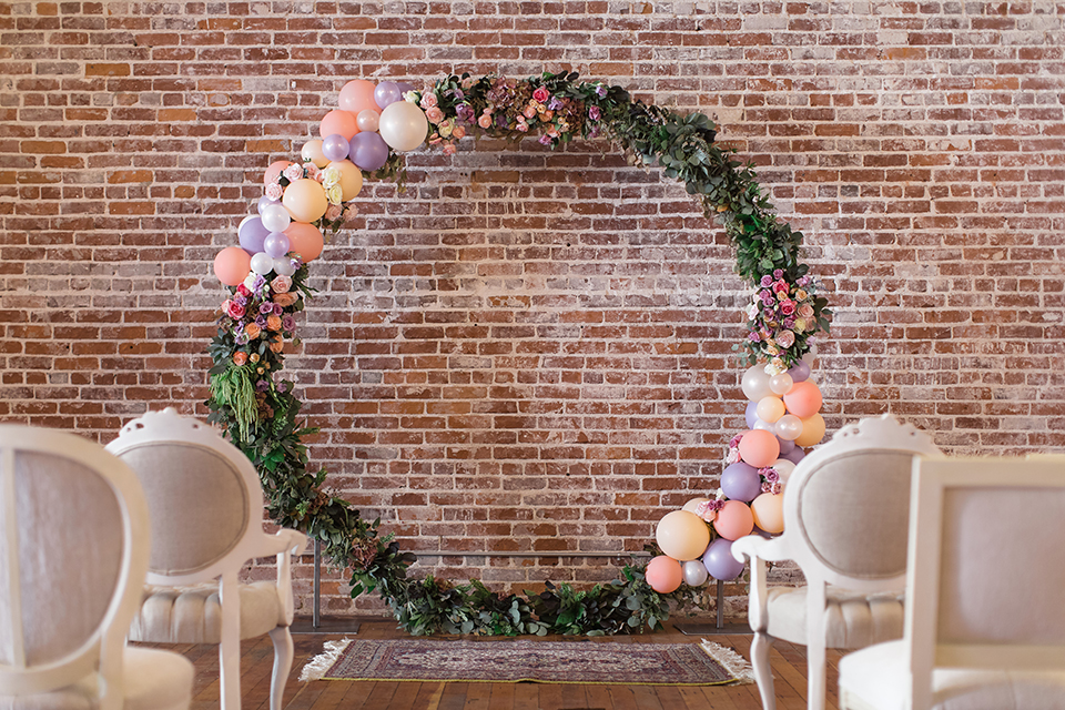 Orange-county-whimsical-wedding-at-franciscan-gardens-ceremony-set-up