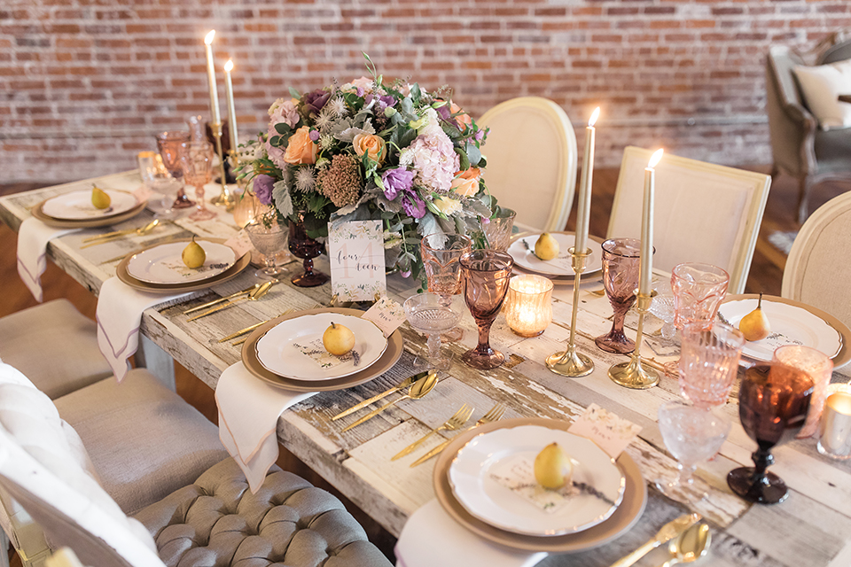 Orange-county-whimsical-wedding-at-franciscan-gardens-table-set-up