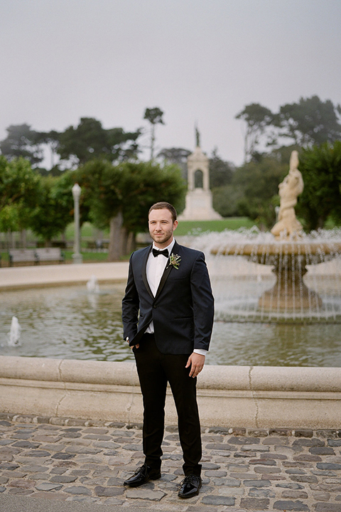 San-francisco-wedding-shoot-at-the-golden-gate-park-groom-navy-tuxedo