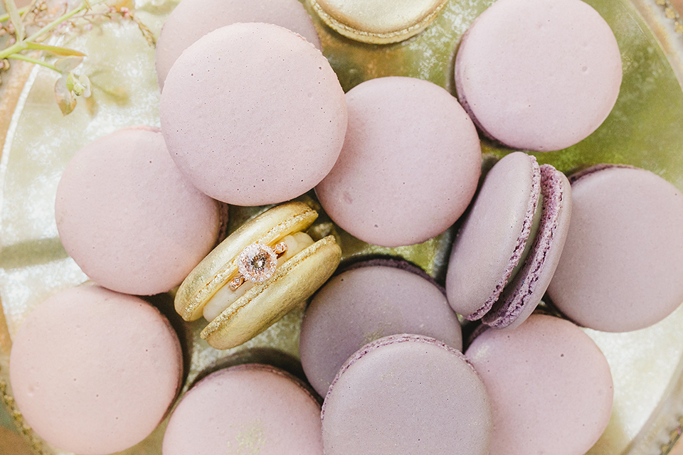 Temecula-outdoor-romantic-wedding-at-humphreys-estate-wedding-ring-and-macarons
