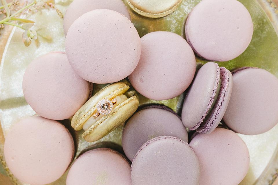 Temecula-outdoor-romantic-wedding-at-humphreys-estate-wedding-ring-and-macarons