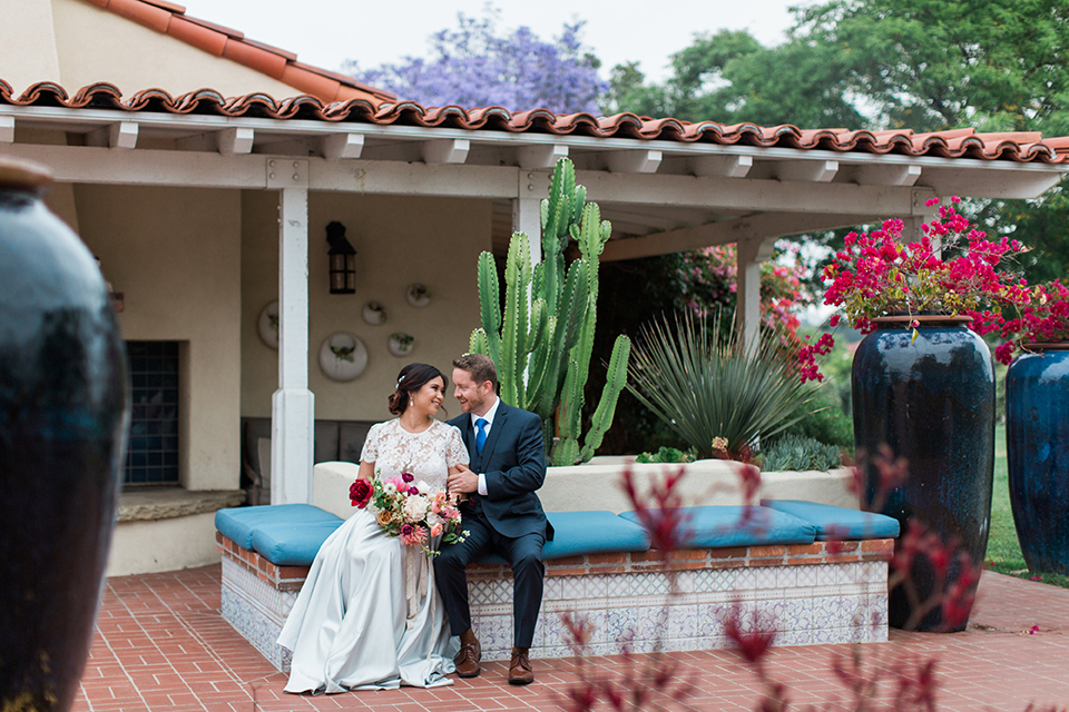 San-diego-outdoor-wedding-at-the-inn-at-rancho-santa-fe-bride-and-groom-sitting