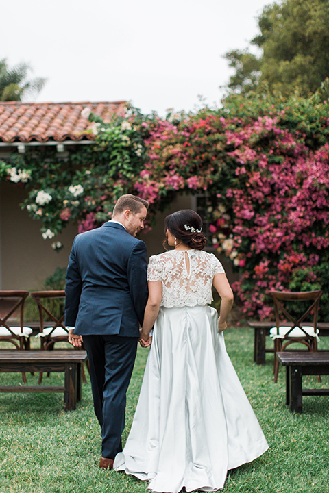 San-diego-outdoor-wedding-at-the-inn-at-rancho-santa-fe-ceremony-bride-and-groom-walking