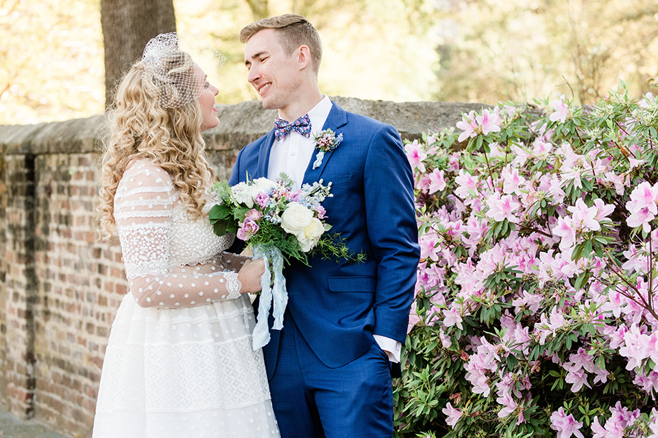 South-carolina-summer-outdoor-wedding-at-the-wickliffe-house-bride-and-groom-hugging-smiling