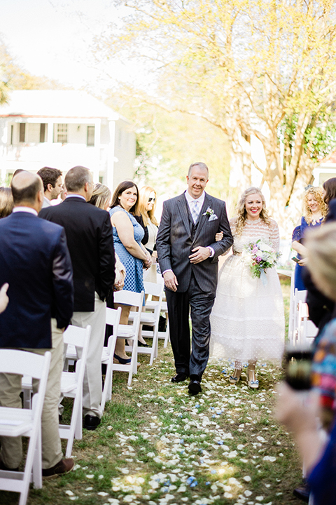 South-carolina-summer-outdoor-wedding-at-the-wickliffe-house-ceremony-bride-walking-down-aisle