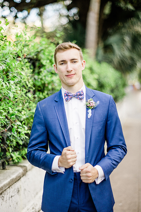South-carolina-summer-outdoor-wedding-at-the-wickliffe-house-groom-blue-suit