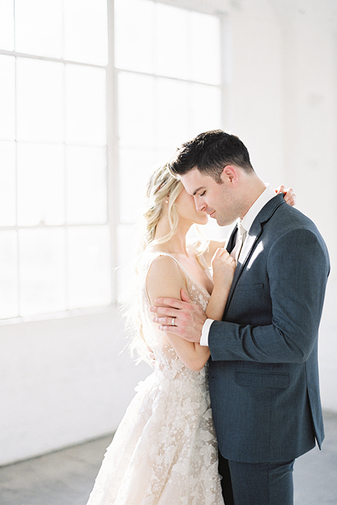 Los-angeles-modern-wedding-at-fd-photo-studio-bride-and-groom-hugging