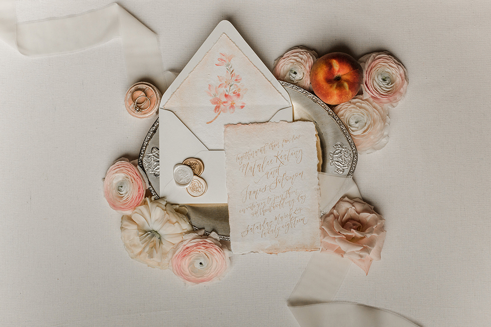 Texas-peaches-and-cream-wedding-shoot-at-carola-horse-ranch-wedding-invitations