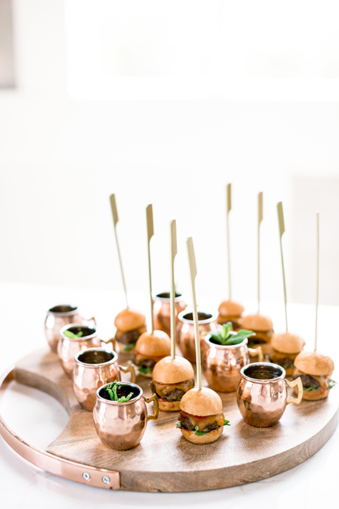 Same-sex-industrial-wedding-at-the-1912-table-set-up-food-mini-burgers