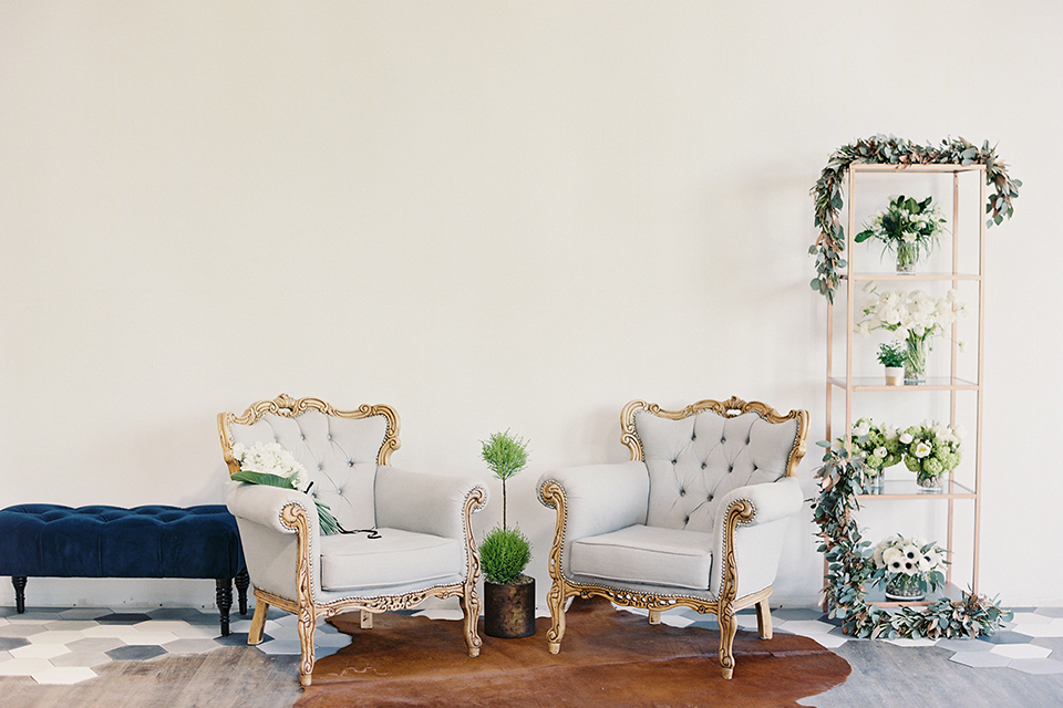 Same-sex-industrial-wedding-at-the-1912-vintage-chairs-set-up