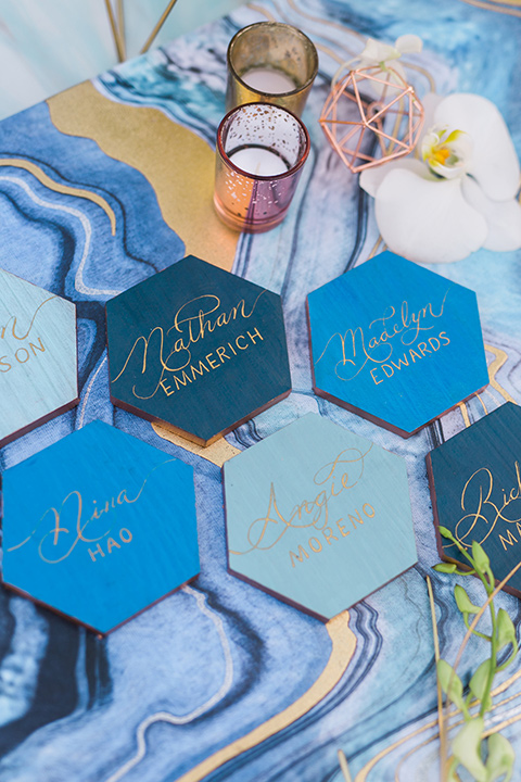 san-diego-styled-shoot-placement-cards-blue-tiles-with-retty-calligraphy