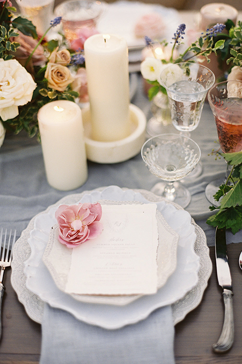 Santa-barbara-outdoor-wedding-at-sunstone-winery-table-set-up-with-place-setting