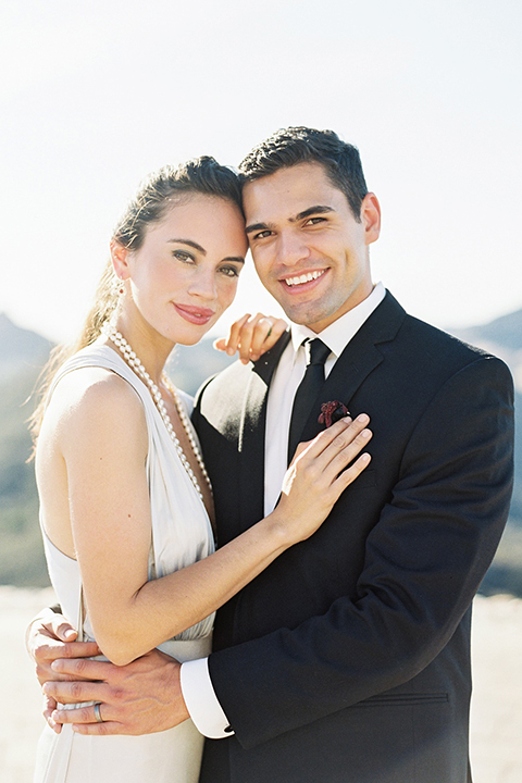 Malibu-rocky-oaks-valentines-day-wedding-shoot-bride-and-groom-hugging-close-up