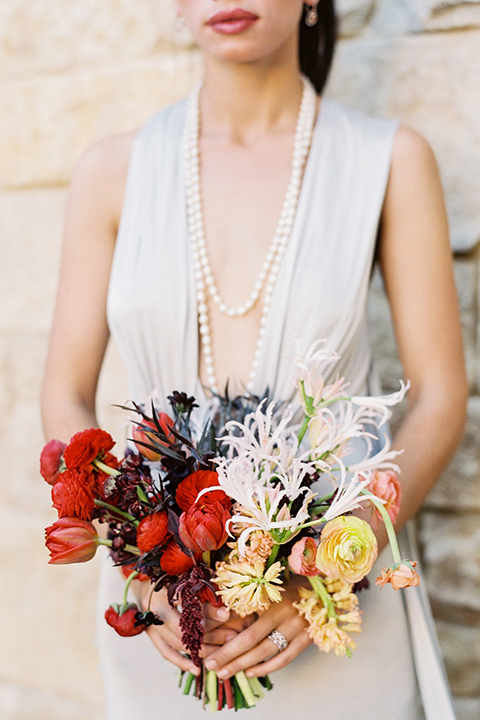 Malibu-rocky-oaks-valentines-day-wedding-shoot-bride-holding-bouquet-close-up