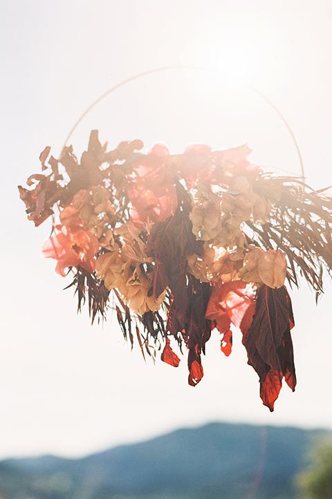Malibu-rocky-oaks-valentines-day-wedding-shoot-ceremony-set-up-with-flowers