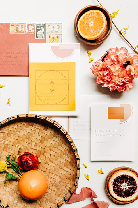 Ace-Hotel-Wedding-fruit-and-invitation-spread