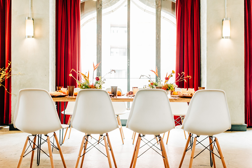 Ace-Hotel-Wedding-table-and-chairs-set-up