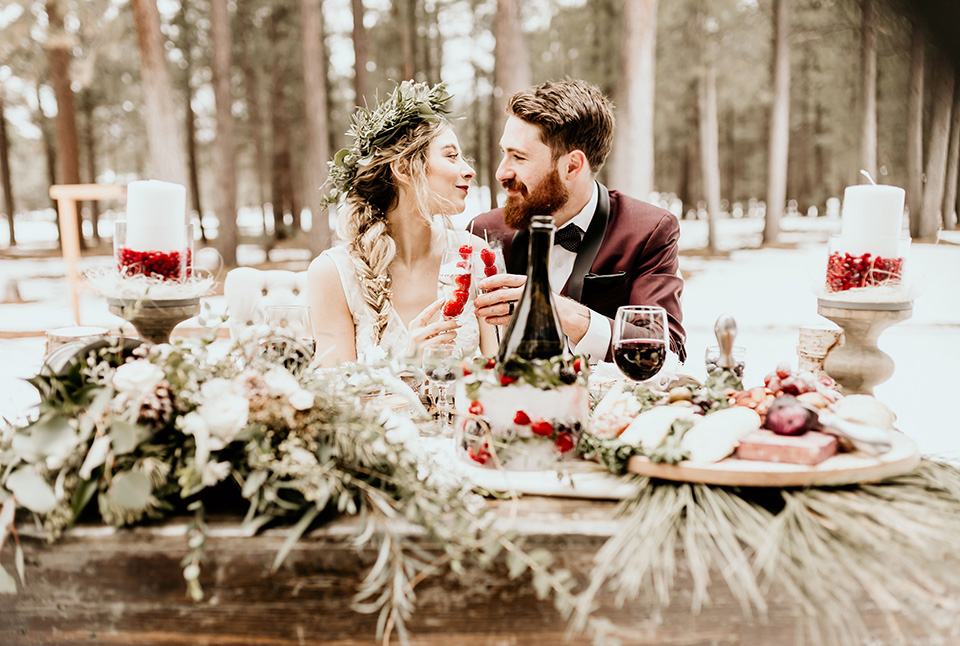 Arizona-Elopement-Shoot-the-bride-and-groom-holding-drinks
