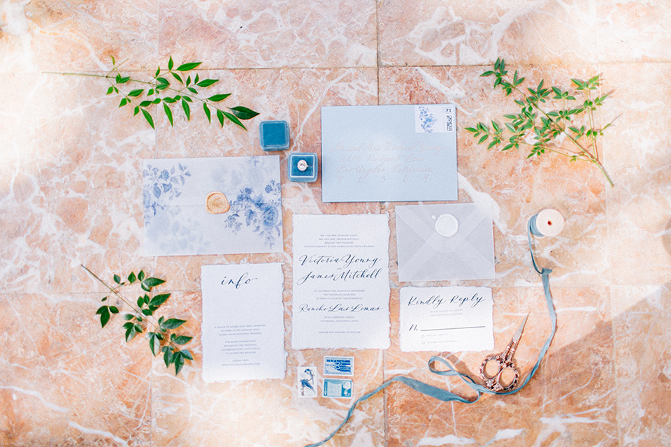 Rancho-las-lomas-blue-shoot-invitations