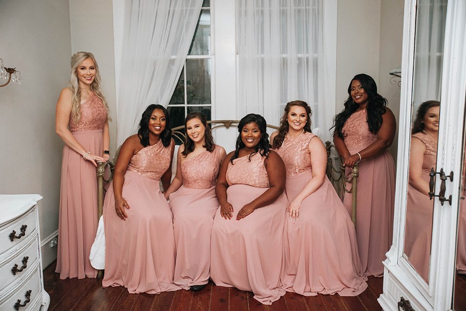 Fete-Venue-New-Orleans-Wedding-bridesmaids-in-pink-dresses