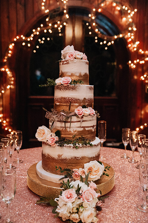 Fete-Venue-New-Orleans-Wedding-cake-with-natural-style-frosting-and-small-floral-decor