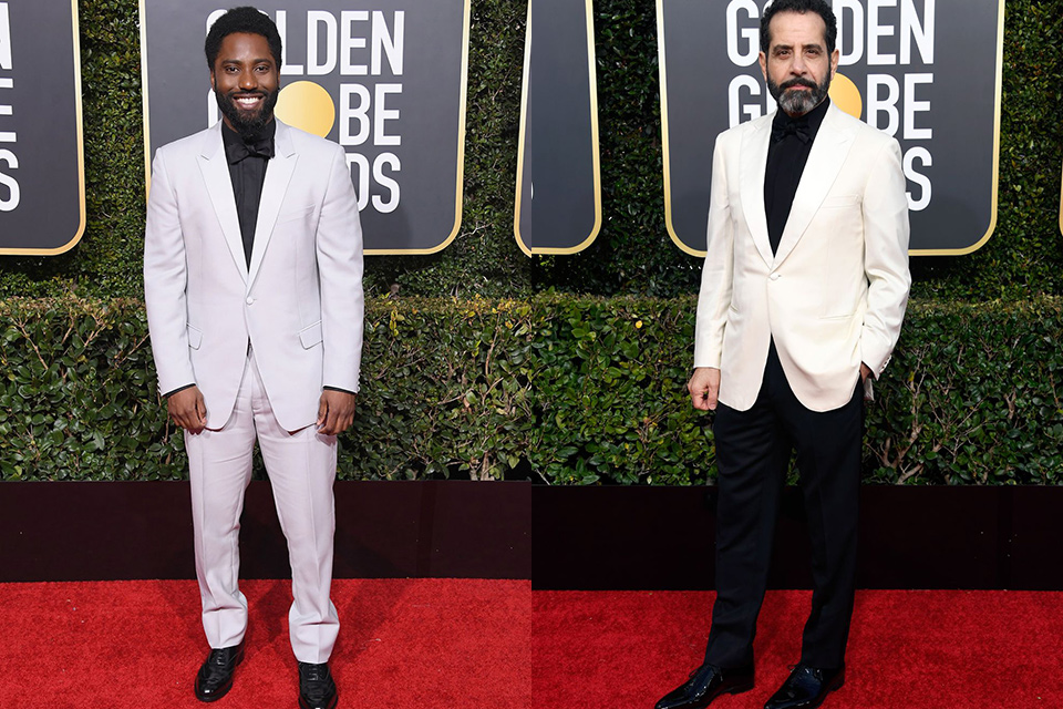 White-jackets-with-black-shirts-golden-globes-2019