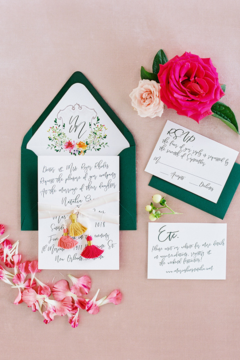 II-Mercato-in-New-Orleans-invitations-green-envelopes-with-floral-detailed-invitations