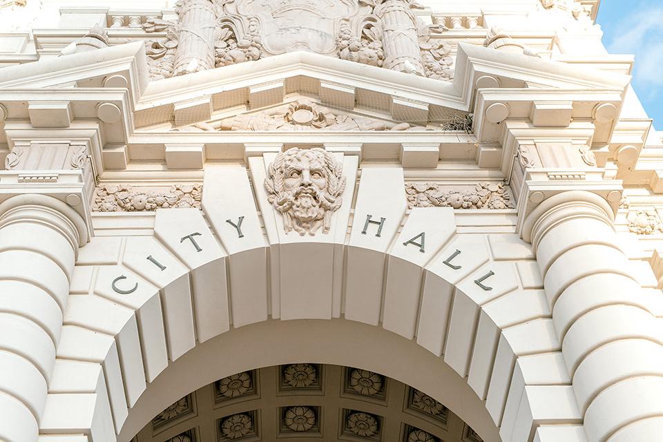 Pasadena-city-hall-styled-shoot-outside-of-city-hall