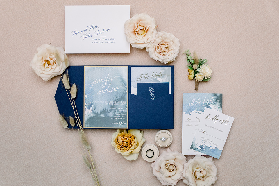 The-Harper-Shoot-invitations-with-blue-envelopes