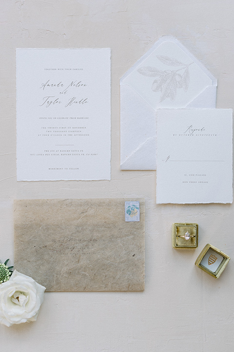Inn-at-Rancho-Santa-Fe-wedding-invitations-with-white-envelopes-and-simple-calligraphy