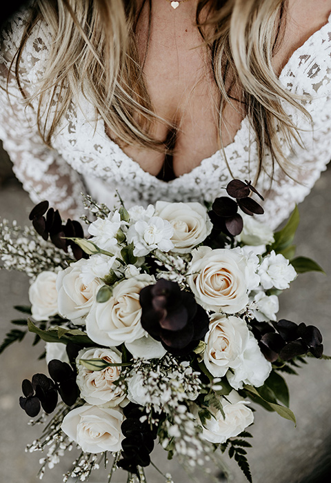 The-Retro-Ranch-Shoot-bridal-flowers-in-white-and-deep-burgundys