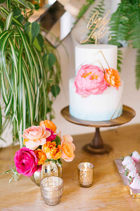 The-Ruby-Street-70s-Inspired-Shoot-cake-in-white-fondant-and-pink-accents