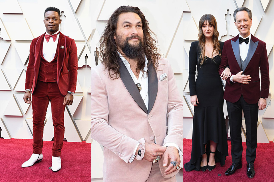 red-and-pink-velvet-tuxedos-worn-by-stephan-james-jason-mamoa-and-richard-e-grant