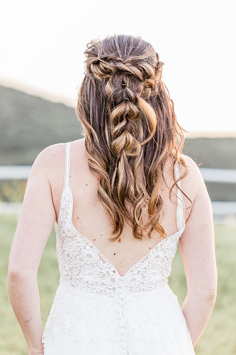 bridal hair with a French braid style