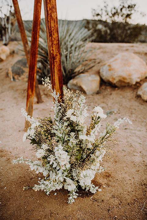white flowers at the ceremony