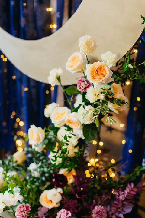 ceremony florals in bright colors