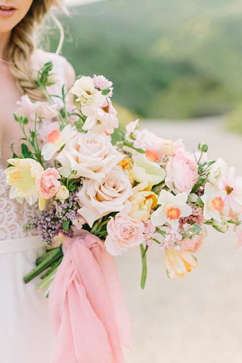 French inspired wedding florals